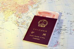 Passport and world map Royalty Free Stock Photo