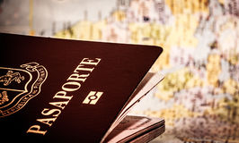 Passport & world map Royalty Free Stock Photography
