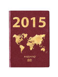 Passport 2015 with a world map Royalty Free Stock Images