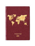 Passport with a world map on the cover Royalty Free Stock Photos