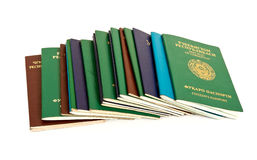 Passports. The passports of different countries of the former USSR Stock Images