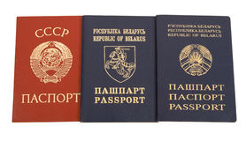 Passports. The passports of  countries of the former USSR Royalty Free Stock Photo