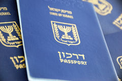 Passports. Lot of Israel sitizen passports close-up Royalty Free Stock Photo