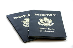 Passports. Two isolated Passports Stock Image