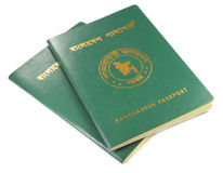 Passports of Bangladesh Royalty Free Stock Image