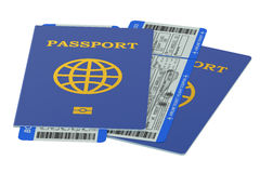 Passports and boarding pass tickets Stock Image