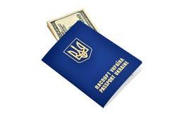 Passports and dollars Stock Photos