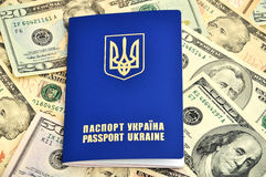 Passports and dollars Royalty Free Stock Images