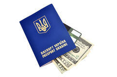 Passports and dollars Royalty Free Stock Image