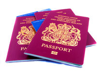 Passports and Ehic. Three passports with EHIC's Royalty Free Stock Photography