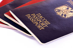 Passports isolated Royalty Free Stock Photos