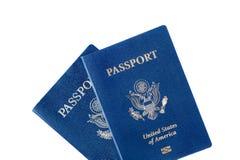 Passports isolated on white Royalty Free Stock Image