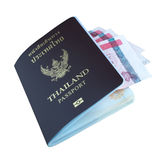 Passports isolated on white background. Passport, american, blue, citizenship, department, documents, table, america, stamp, travel, legal, history, security Stock Images