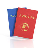 Passports with map Royalty Free Stock Images