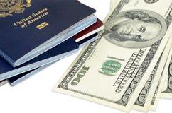 Passports and money Royalty Free Stock Photo
