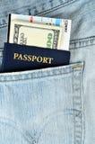 Passports and money Stock Photography