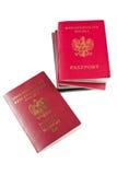 Passports over white background Stock Photos