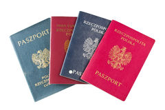 Passports over white background Royalty Free Stock Photography