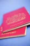 Passports please... Passports shot, left full size for cropping if desired - shallow dof Royalty Free Stock Photos