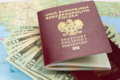 Passports ready for trip Royalty Free Stock Image