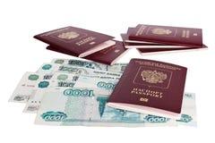 Passports of Russian Federation Stock Photo