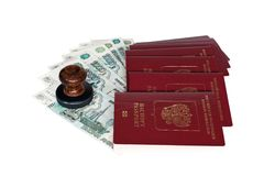 Passports of Russian Federation Royalty Free Stock Photography