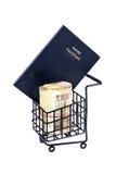 Passports and shopping cart Stock Photos