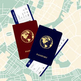 Passports tickets Royalty Free Stock Images