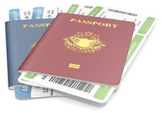 Passports and tickets. Stock Image