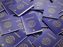 Passports. Travel turism or customs concept background. 3d Royalty Free Stock Photo