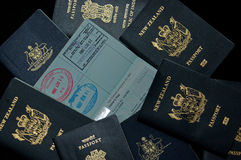 Passports Stock Photography