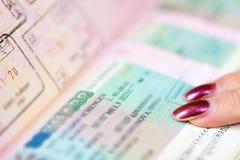 Passports witn Schengen visa Stock Photo