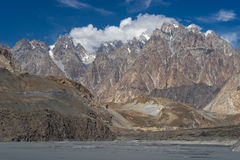 Passu大教堂峰顶, Hunza谷,基尔吉特,巴基斯坦纹理  免版税库存照片