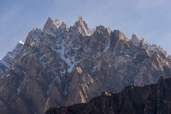 Passu cathedral in a morning sunrise, Passu village, Gilgit-Balt Stock Photography