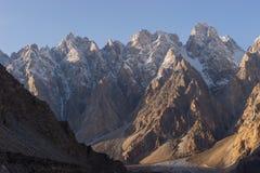 Passu cathedral mountain peak in Hunza valley, Gilgit Baltistan, Pakistan. Asia royalty free stock photo