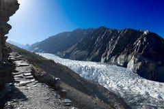 Passu glaciär Pakistan Arkivbild