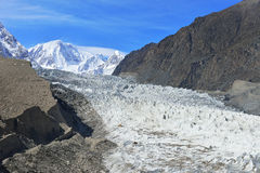 Passu Glacier. Karakorum region. Northern Pakistan. Stock Photo