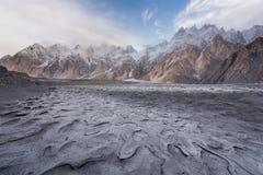 Passu lub Passu Katedralna góra w Karakoram pasmie Konusujemy, Gilg Zdjęcie Royalty Free