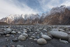 Passu lub Passu Katedralna góra w Karakoram pasmie Konusujemy, Gilg Obraz Royalty Free