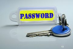 Password. The password, the key of access Royalty Free Stock Image