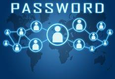 password ilustración del vector