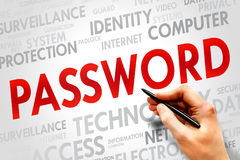 password Photo libre de droits