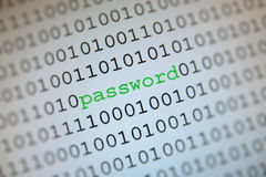 Password in binary code Royalty Free Stock Image