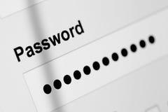 Password box Royalty Free Stock Photo
