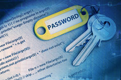 Password code Royalty Free Stock Images
