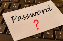 Password Concept on keyboard Royalty Free Stock Images