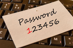 Password Concept on keyboard Stock Photography