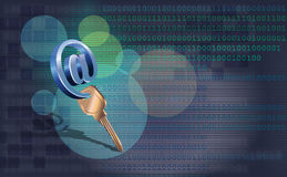 Password for an entrance in e-mail Stock Photos