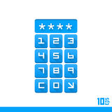 Password entry buttons Stock Image