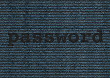Password extraction from a background made of letters and number Royalty Free Stock Image